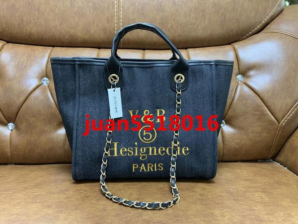 Borsa della catena di modo del progettista di marca di alta qualità della borsa a tracolla delle donne della borsa della spesa della borsa della tela di colore 5 trasporto libero