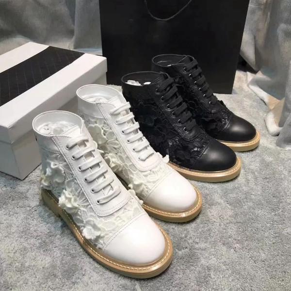 2019 короткие сапоги в осенне-зимний период Кожаные шнурки для и женской обуви с сапогами Designer Fashion Martin Повседневная спортивная обувь с коробкой ch16