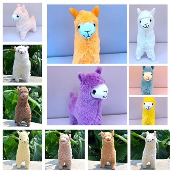 Adorável quente de 23 centímetros Branco Alpaca Llama Dolls boneca Plush Toy Boneca animal Stuffed Animal japonês macio Plush Alpacasso GiftsT2G5057