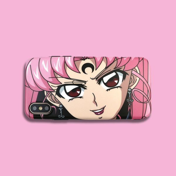 Para Iphone Xs Max X Xr Funda de teléfono Cartoon Sailor Moon para Apple 7 8 6 Plus Pink Girl Soft Fundas para teléfono celular