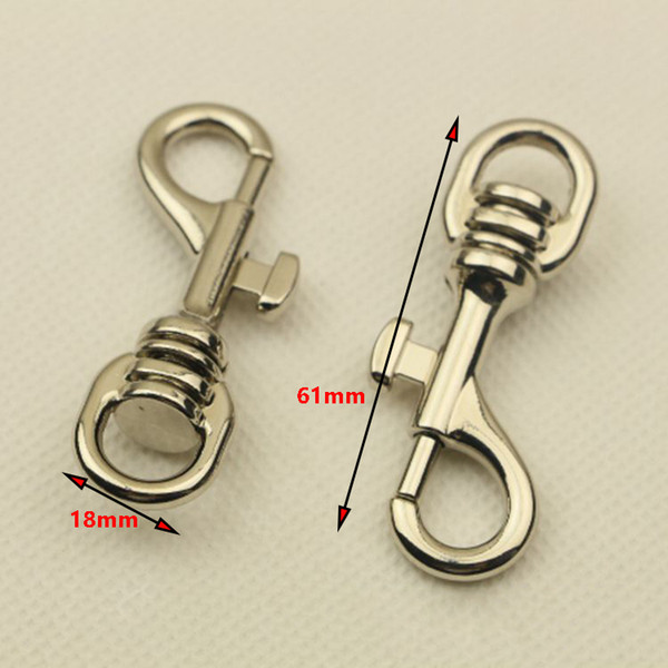 Metal Buckles Dog Collar Bag Buckle Keychain Trigger Lobster Clasps Handbag Strap Swivel Snap Hooks DIY Bag Accessories