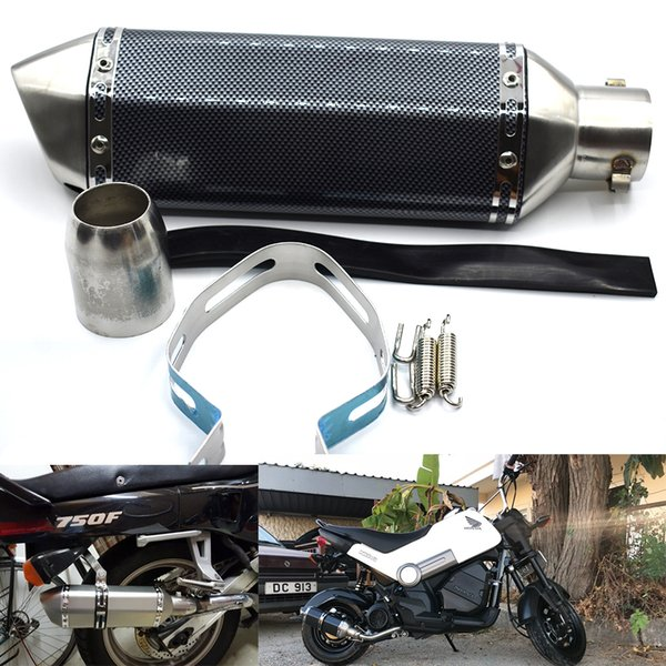 For 36-51MM Universal Motorcycle Exhaust Modified Muffler Pipe GY6 Scooter For Akrapovic Yamaha Honda R1 R3 R6 MT07 Nmax CBR250