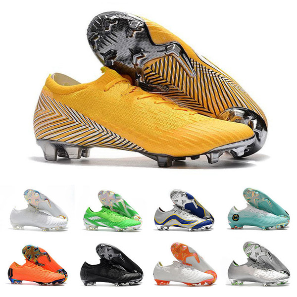 Mens Mercurial Superfly XII PRO FG CR7 12 Low CR7 Football Boots Ronaldo Neymar 20th Anniversary 1998-2014 Soccer Shoes Cleats Size 36-46