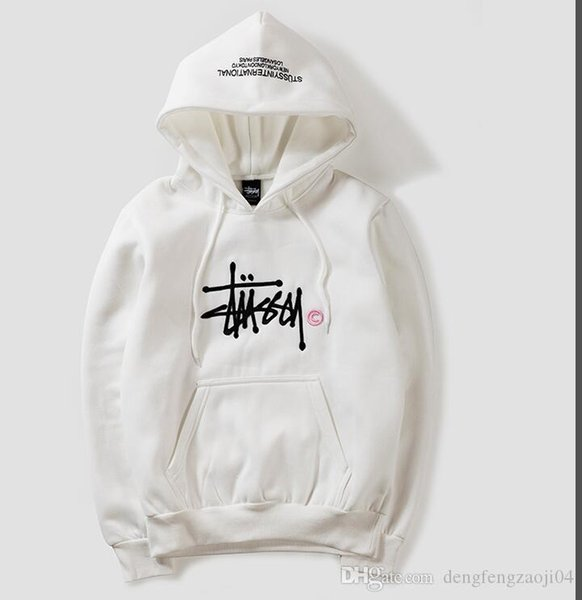 19stussy fashion designer hoodie mens street hip hop brand embroidery hoodie high quality men women couples fleece hooded sweater M-XXL