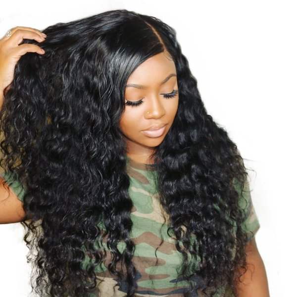 250% loose wave lace front human hair wigs for women natural black 13x4 full end lace front wig brazilian wig comingbuy remy