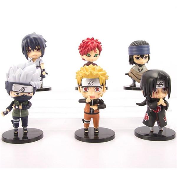Naruto aksiyon figürleri oyuncaklar 6 adet / grup anime Naruto action figure bebek çocuk erkek doğum günü hediyeleri çocuk oyuncakları TSS235