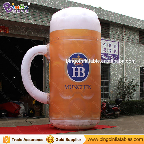 Personalized 13 feet inflatable beer cup holder / 4M tall beer cup holder inflatable toys
