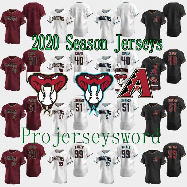Arizona 2020 Authentic Randy Johnson Diamondbacks Jersey Taijuan Walker Andrew Chafin Alex Young Jazz Chisholm Emilio Vargas Sherfy Jerseys