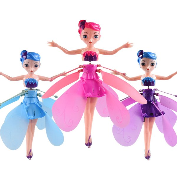 best selling LED Luminous Hand Control Aircraft Christmas Gift Toy Flower Princess RC Drone Lighting Induction Flying Toys for Kids Birthday