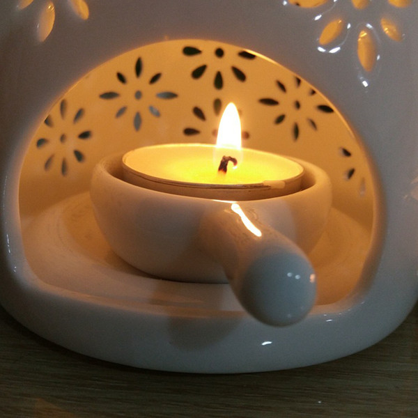 best selling Ceramic Candle Placing Tray Holders for Essential Oil Burner Incense Aroma Diffuser Fragrance Lamp Yoga Room SPA Supply