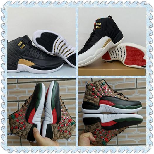 2019 más nuevos 12 Snakeskin 12 WMNS Reptile Men zapatos de baloncesto Marrón Negro 12s CNY mens trainer zapatos deportivos szie 7 ~ 13