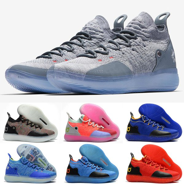 New designer shoes KD 11 Kids Basketball Shoes Kevin Durant 11s Zoom mens running Athletic shoes yellow KD EP Elite Low Sport Sneakers