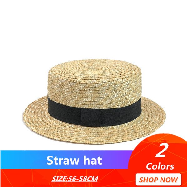 simple Summer Flat Sun Hats For Women Chapeau Feminino Straw Hat Panama Style Cappelli Side With Bow Beach Bucket Cap Girl Topee
