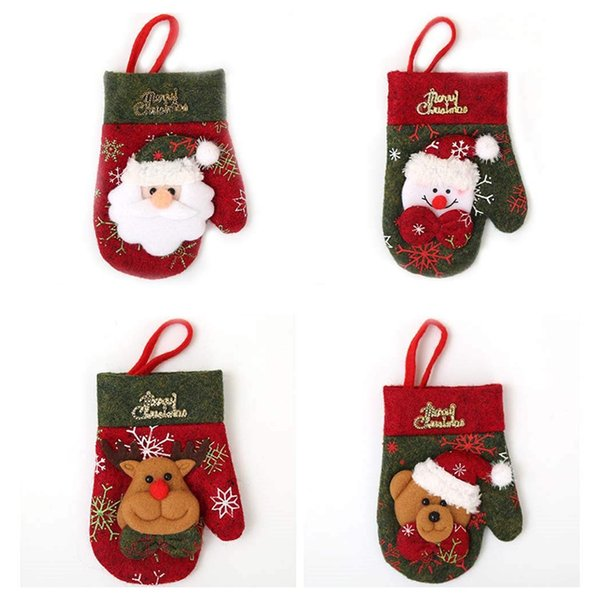 4x Mini Christmas Cutlery Holder Cutlery Bag Cutlery Covers Table Decor