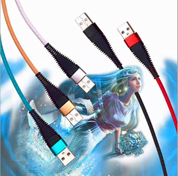 High resistance 1m 3ft sync data charge cord 2.4A fast charging usb data cable micro usb type C cables for phone S9 s10 p10 cable