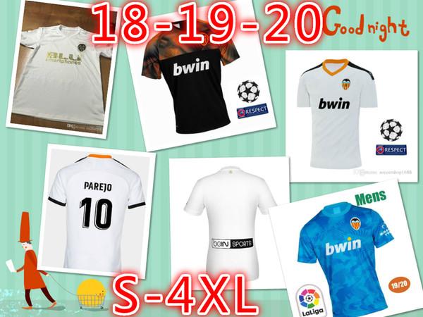 Novo FUTBOL Camisa Equipacion Del Valencia 2020 Camisola de Futebol, Chandal valencia Camisola Valencia CF 18 19 20 Tailandês Guedes C.Soler Parejo 4XL