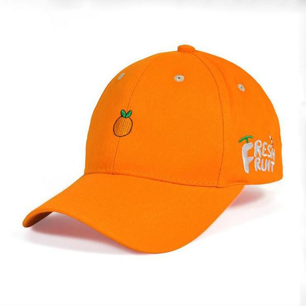 2019 New Spring Fruit Fresh Cute Lovely Dad Hat Girls Youth Baseball Cap Hat Summer Lovely Rose Red Orange Pink Yellow Caps