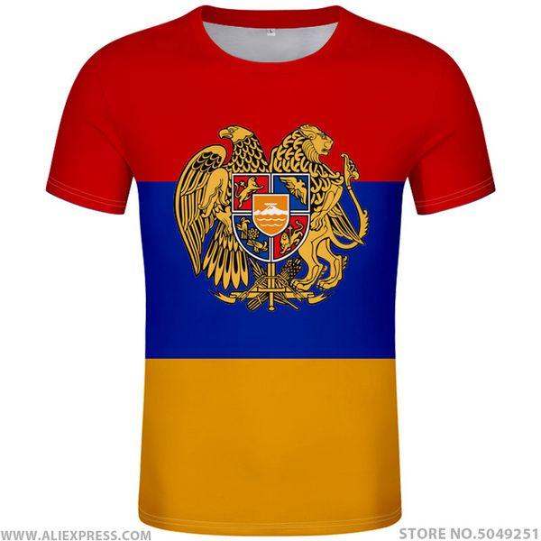Армения футболка бесплатно на заказ имя номер фото черный логотип красный черный тройники рука страна футболка флаг армянской нации am одежда