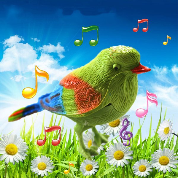 Simulation Bird Voice Control Music Toys for Baby Educational Electronic Pet Cute Sing Song Bird Toy Doll for Children