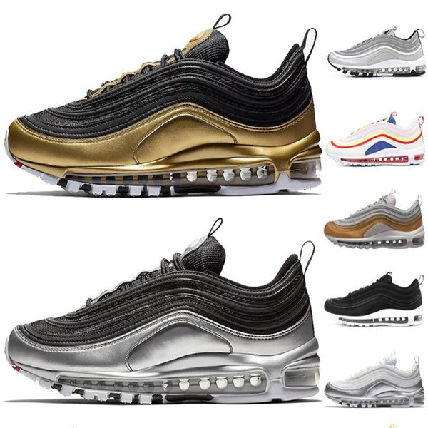 QS Running Shoes light For Men Women New Balck Metallic Gold South Beach PRM Yellow Triple White Sports Sneakers Size 36-45