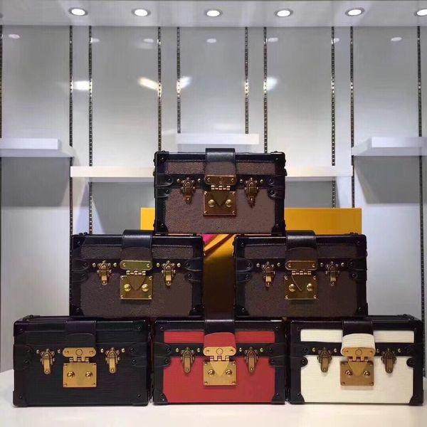 Großhandel Designer Kupplung Box Original Handtaschen Abendtaschen Ausgezeichnete Qualität Leder Geldbörse Mode Box Ziegel Messenger Schultertasche