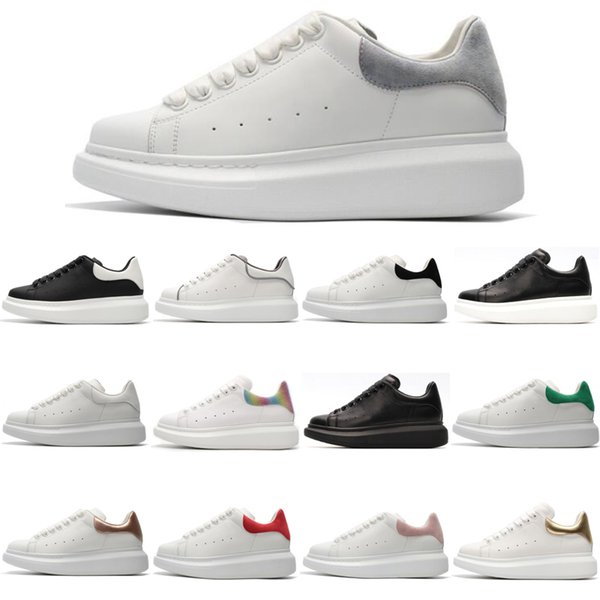 Cheap Luxury Designer Men Casual Shoes Grey Suede White Black Top Quality Mens Womens Trainers Party Platform Shoes Fashion Sneakers36-44