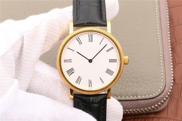 Luxusuhr Neue klassische Serie ultradünne automatische Luxusuhr exzentrische Perle tuo Bewegung original Luxusuhr