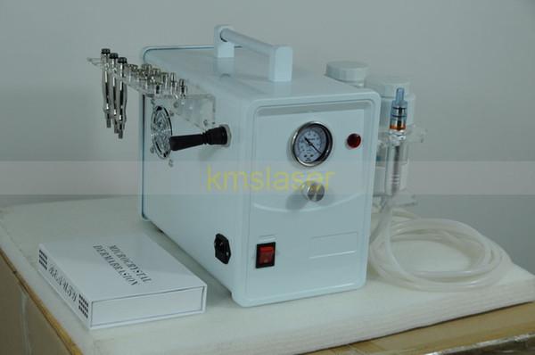 Taşınabilir 2 1 elmas mikrodermabrazyon kristal mikrodermabrazyon sivilce kaldırma siyah nokta kaldırma yüz derin temizlik spa makinesi