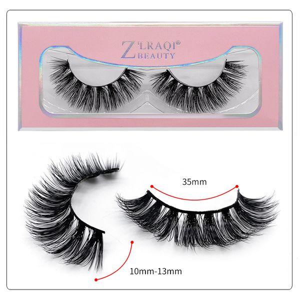 1Pair/lot 3D Mink Lashes Wholesale Handmade 3D Mink Eyelashes Natural False Eyelashes Popular eyelashes Makeup Eye Lashes Extension SD76