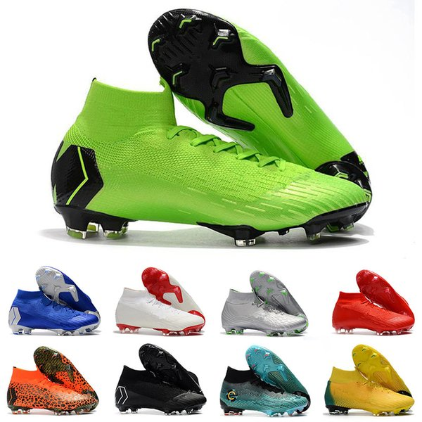 new product a93fe 0a1b2 Mercurial Superfly VI 360 Elite FG KJ 6 XII 12 CR7 Ronaldo Neymar  Chaussures de Soccer