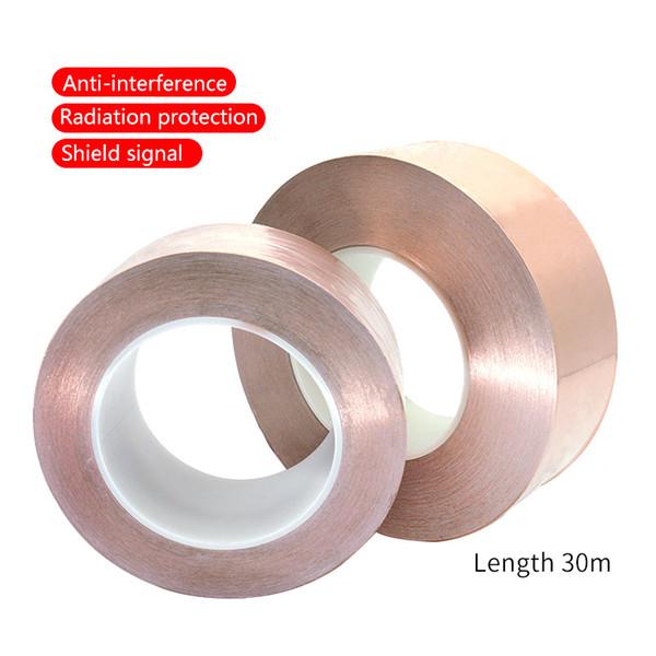 UANME 30 mètres un seul côté conducteur cuivre feuille Ruban adhésif Bande EMI calorifuges Résistez Ruban 15mm 20 mm