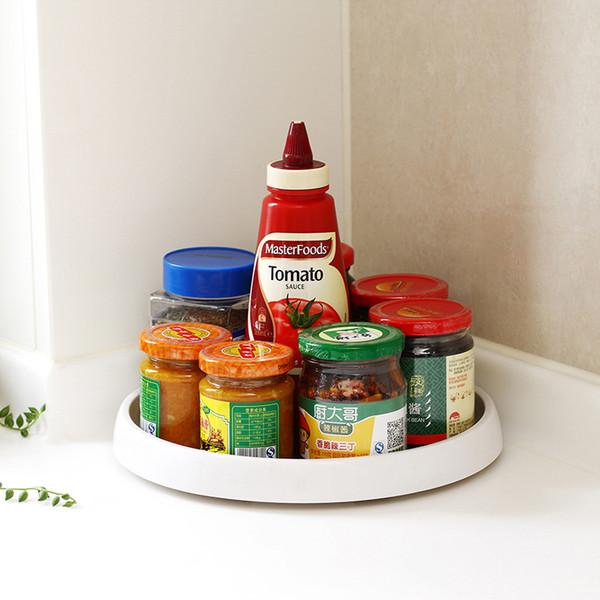Plateau rotatif à épices 360 degrés PP TPR Matériau Rotary Flavoring Bottle Rack Cuisine Outils Livraison gratuite