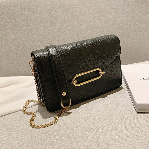 embossed leather bags for women 2019 fashion shoulder bag luxury handbags messenger bags simple chain small flap #15