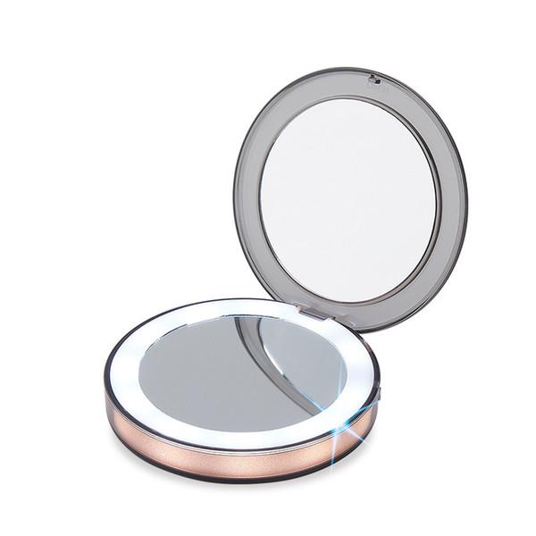 Acheter Miroir De Maquillage Eclaire De Led 3x Loupe Compact Voyage Portable Detection Eclairage Maquillage Miroir Beaute Outil De 31 13 Du Bawanbian