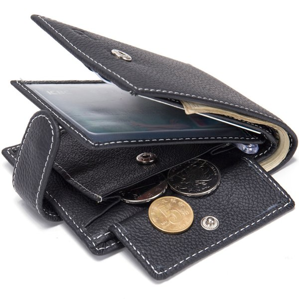 man genuine leather wallet clutch men wallets coin purse wallet male purse portemonnee coin bag
