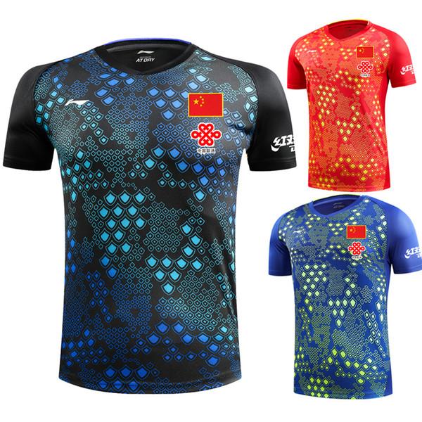 top popular New 2009 Li Ning Badminton T-shirt + shorts, Men's and Women's Badminton Sportswear Fast-drying Table Tennis Shorts Free Shipping 2020