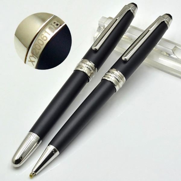 Venta caliente - alta calidad Meisterstcek 163 Matte Black Roller bolígrafo Bolígrafos Útiles escolares de oficina con el número de serie de Monte Brands