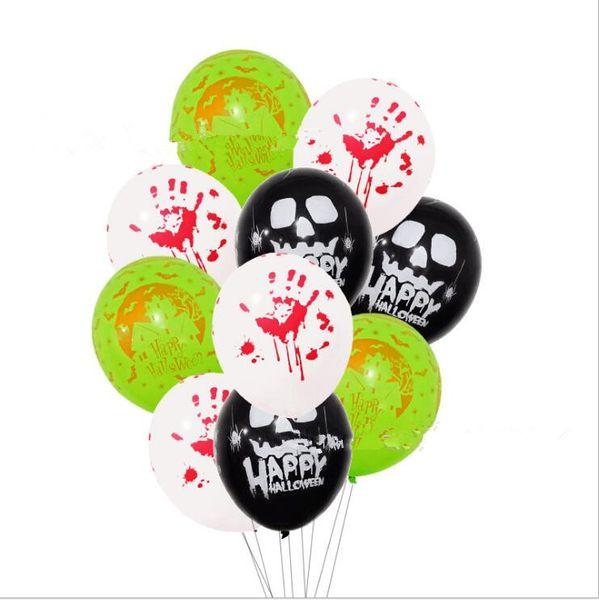 Cadılar bayramı Balonlar Şişme Kabarcık cadılar bayramı süslemeleri lateks balon Kabak Kafatası baskı Balonlar Mix tasarım mutlu cadılar bayramı Globo LT597