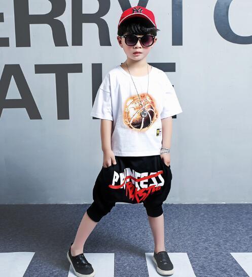 Marca Bambini Imposta bambini T-shirt e pantaloncini Pantaloni bambini Tute Bambini Tuta sportiva 2 pezzi / set manica corta set estate YIREC