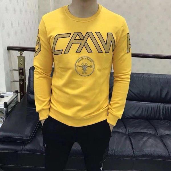2019 nuevos algodón para hombre sudadera con capucha para hombre de la camiseta de las tapas suéteres jersey 191202-4120 * 3655