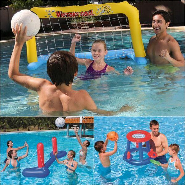 Brinquedos de praia Inflável Piscina Flutuadores para Adultos Crianças Inflatables Água Voleibol Basquete Handebol Água Equipamentos Desportivos