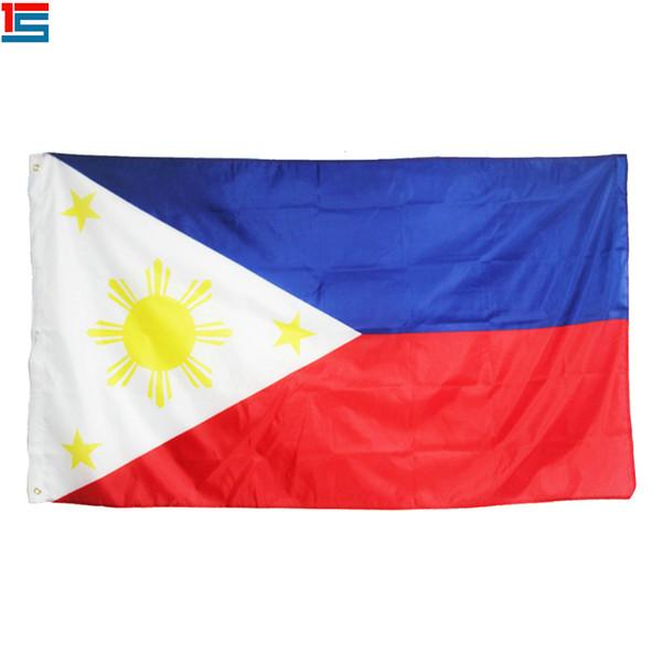 Dijital baskı Filipinler Bayrağı 90x150 cm Polyester Ulusal Ülke Bayrağı Afiş iki grommets ile