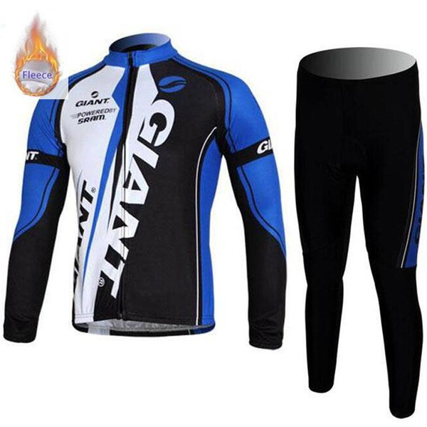 Best seller 2019 GIANT team winter thermal Fleece Long Sleeve Men Cycling Jersey Set Mtb Bicycle Maillot Ropa Ciclismo outdoor bike Clothes