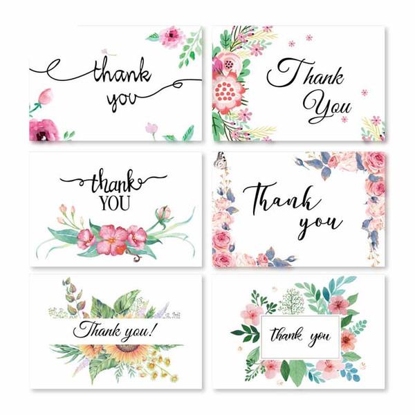 6 Karte + 6 Umschlag pro Satzkarikatur-Minigruß danken Ihnen, Geburtstagsweihnachtsgeschenkkartenumschlag Schreibpapiergroßhandel zu kardieren