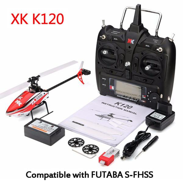 RCtown SYMA XK K120 Navette 6CH Système 3D sans brosse 6G Hélicoptère RC RTF / BNF avec batterie RC Contrôle Drone Jouets