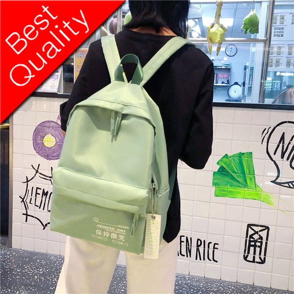 Chinese printing Waterproof nylon women backpack Solid color School bags for Teenage girls Travel Backpack Female Mochila