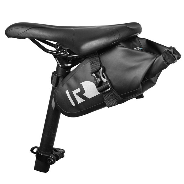 Fashionable Waterproof Thickened Bicycle Bag Bike Panniers Rear Saddle Seat Bag PVC Material for outdoors Black