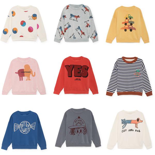 Bobozone 2018 Autumn Winter Cat And Dog Print Bobo Sweatshirt For Kids Baby Tops Y190516
