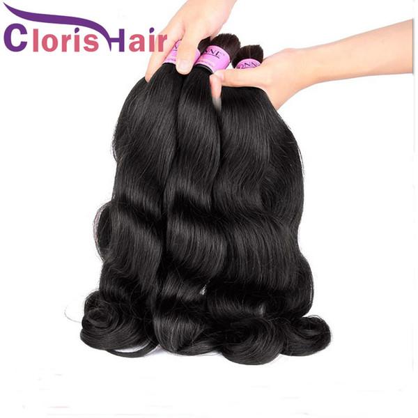 Малайзийский объемная волна наращивание человеческих волос для плетения необработанных пучков человеческих волос без вложения дешевый волнистый плетение волос
