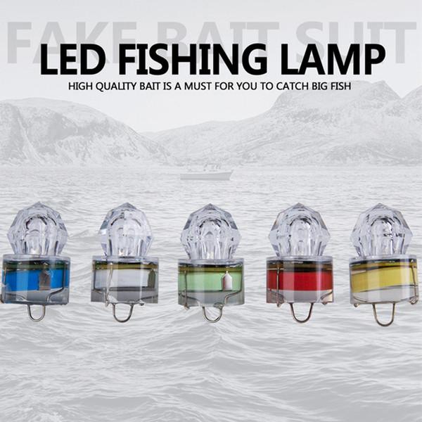 LED Deep Underwater Diamond Fishing Blinklicht Köder Locken Squid Strobe Beliebte Deep Sea Fish Lampe ZZA418